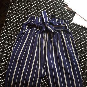 tie striped pants
